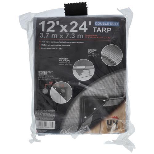 Wholesale 12' x 24'  DOUBLE DUTY SILVER TARP WITH UV SHIELD
