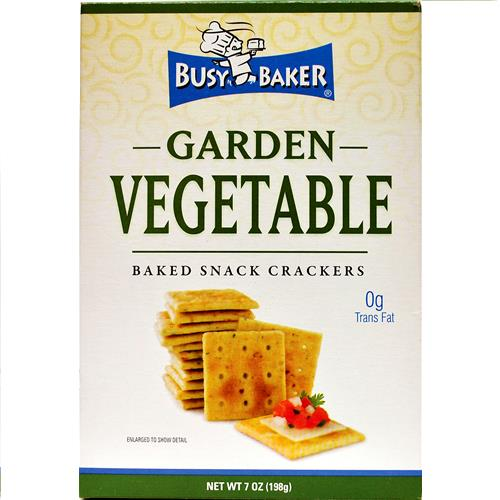 Wholesale Busy Baker Garden Vegetable Crackers