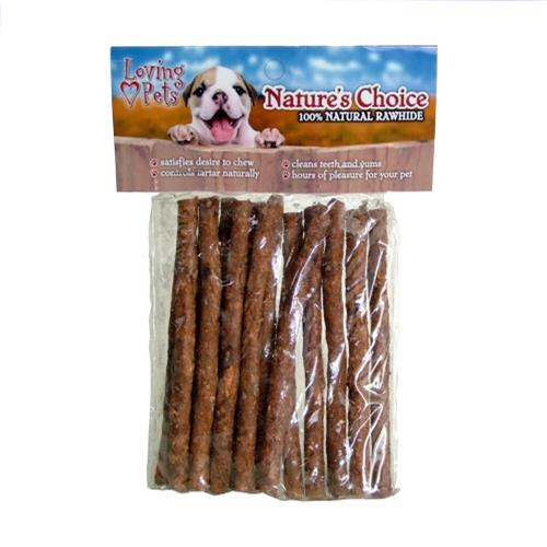Wholesale Nature's Choice Rawhide Chicken BBQ Stick 15pk - 5