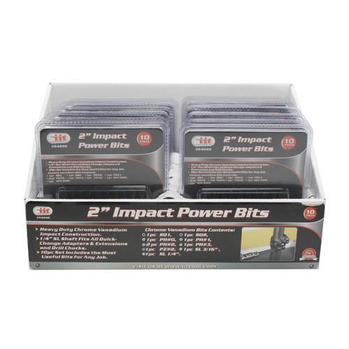 "Wholesale 10pc 2"" IMPACT POWER BITS"