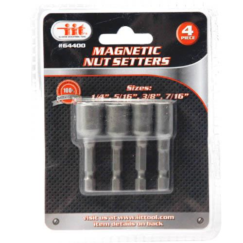 "Wholesale 4pc 1/4"" Shank Magnetic Nutsetter Set"