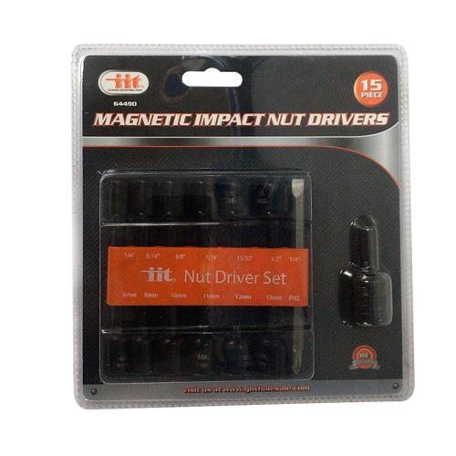 Wholesale 15pc MAG IMPACT NUT DRIVERS