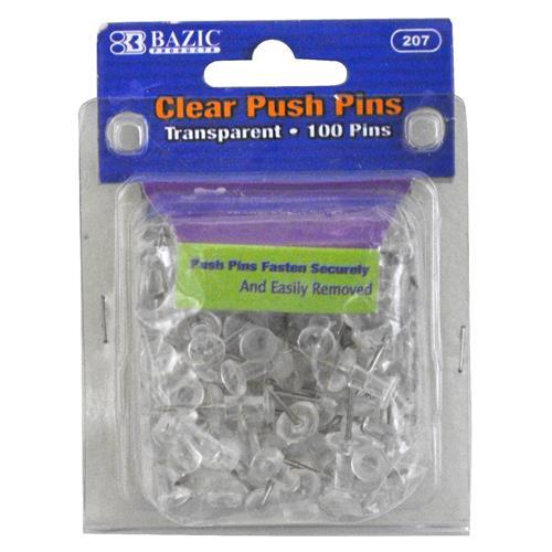 Wholesale Push Pins - Clear - Transparent - Bazic