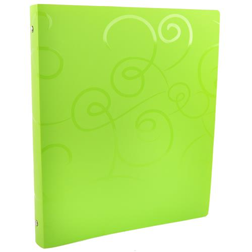 "Wholesale 1"" Poly 3 Ring Binder w/Pocket Swirl Assorted Colors"