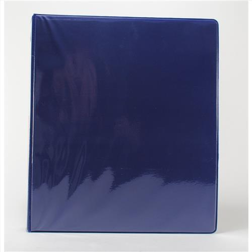 "Wholesale 1"" 3-Ring View Binder with 2-Pockets- Blue"