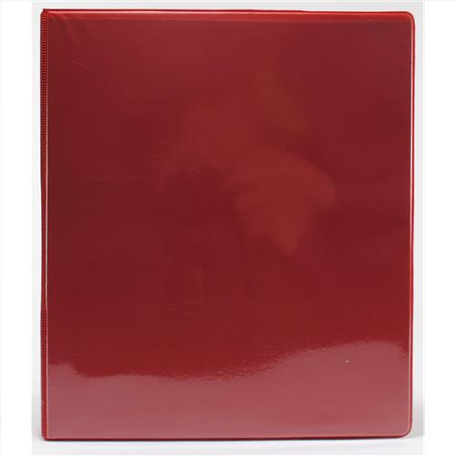 "Wholesale 1"" 3-Ring View Binder with 2 Pockets- Red"