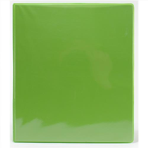 "Wholesale 1"" 3-Ring View Binder with 2 Pockets- Lime Green"