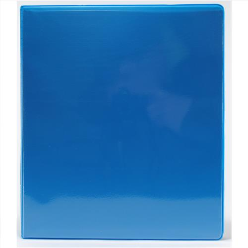 "Wholesale 1"" 3-Ring View Binder with 2 Pockets- Cyan"