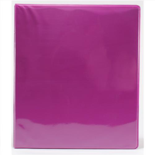"Wholesale 1"" 3-Ring View Binder with 2 Pockets- Fuschia"
