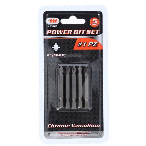 """Wholesale 5PC #1 PZ 2"""" Power Bit Set"""