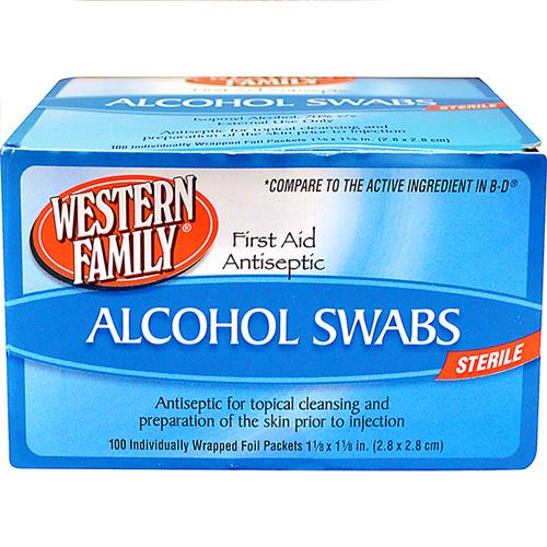 Wholesale 100 COUNT ALCHOHOL SWABS