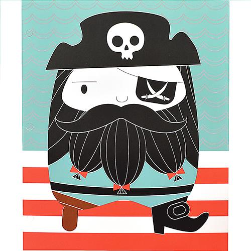 Wholesale 2 POCKET FOLDER PIRATE ASTD.