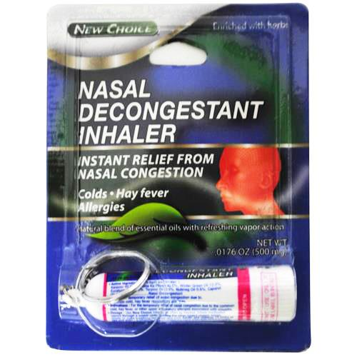 Wholesale Nasal Decongestant Inhaler Stick w/Key Ring - New Choice