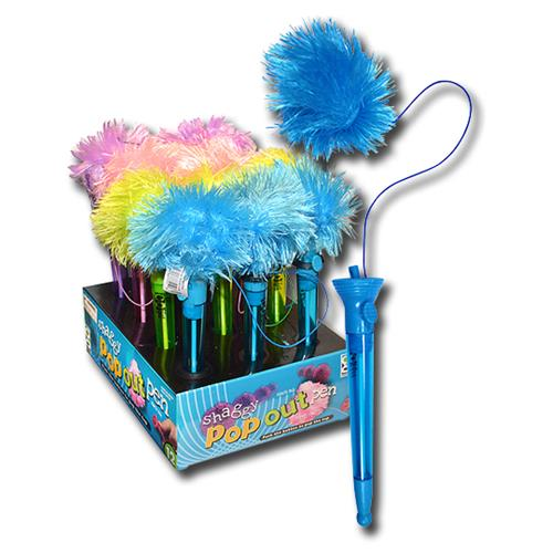 Wholesale SHAGGY BALL POP OUT PEN