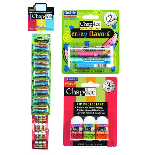 Wholesale Chap Ice Lip Protectant Crazy Flavors 2 ct & Bulle