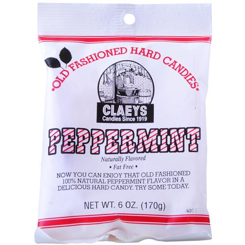 Wholesale Claeys Peppermint Hard Candy - Peg Bag