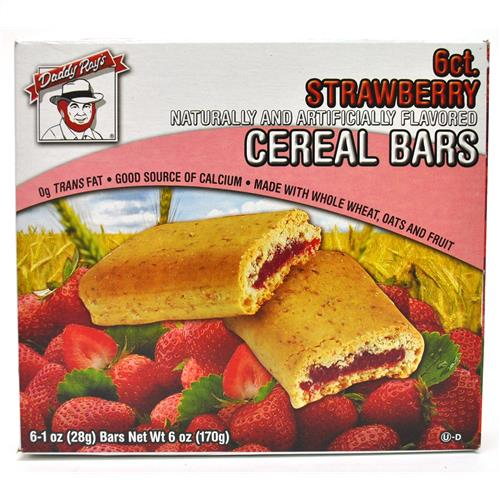 Wholesale Daddy Rays Strawberry Cereal Bars