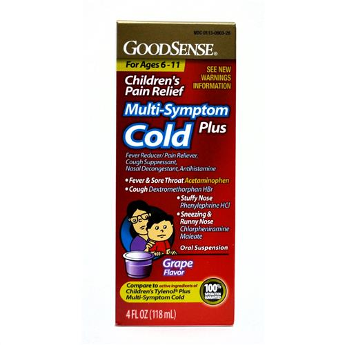 Wholesale Good Sense Multi-Symptom Cold Plus Child Grape (Tylenol) Expires 5/15