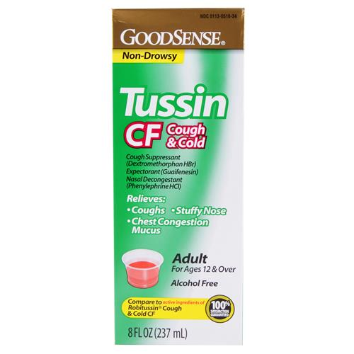 Wholesale Good Sense Tussin PE CF Cough & Cold (Robitussin Multi-Symptom) Expires 4/15