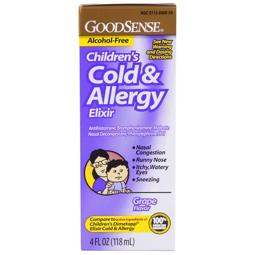 Wholesale Good Sense Child Cold/Allergy Grape (Dimetapp Cold & Allergy Elixir) Exp 5/15