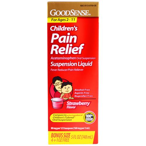 Wholesale Good Sense Suspension Liquid Strawberry (Tylenol) Expires 3/15