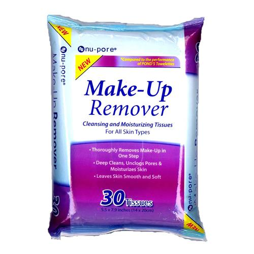Wholesale Nu-Pore Make-Up Removing Tissues (Ponds)