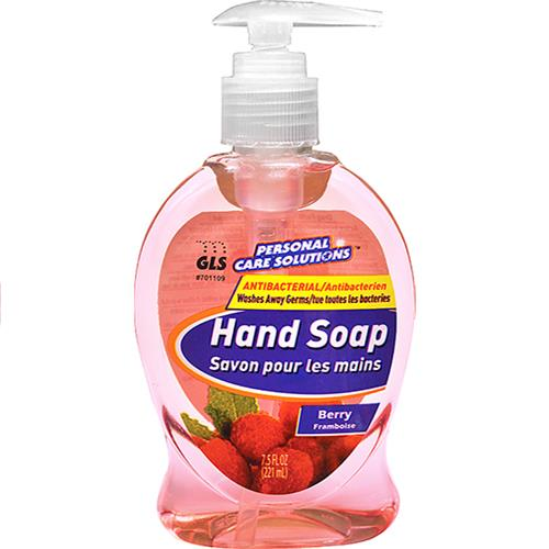 Wholesale 7.5oz Antibacterial Liquid Hand Soap with Pump Berry