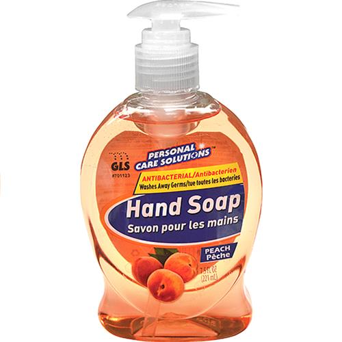 Wholesale 7.5oz Antibacterial Liquid Hand Soap with Pump Peach