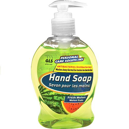 Wholesale 7.5oz Antibacterial Liquid Hand Soap with Pump Melon