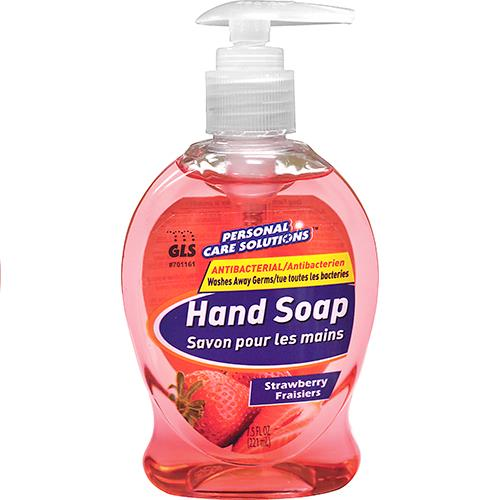 Wholesale 7.5oz Antibacterial Liquid Hand Soap with Pump Strawberry