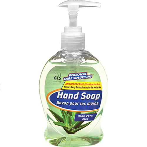 Wholesale 7.5oz Antibacterial Liquid Hand Soap with Pump Aloe Vera