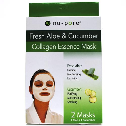 Wholesale Nu-Pore Collagen Essence Mask 1 Aloe and 1 Cucumbe