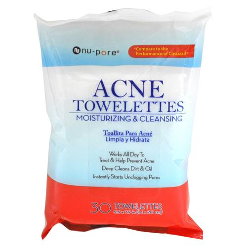 Wholesale Nu-Pore Acne Cleanser Towelettes (Clearasil)