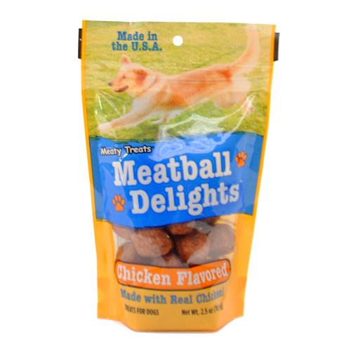 Wholesale Meaty Treats Meatball Delights Chicken Flavored Dog Treats