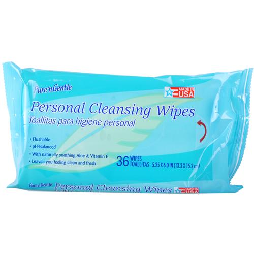 Wholesale Pure N Gentle Fem Moist Wipes in resealable Travel pack