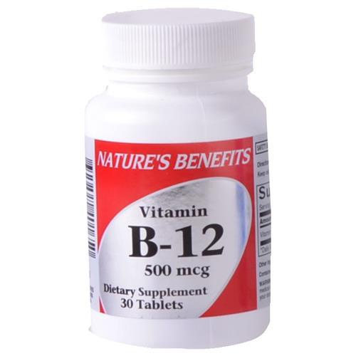 Wholesale Nature's Benefits b-12 500 MCG Tablet