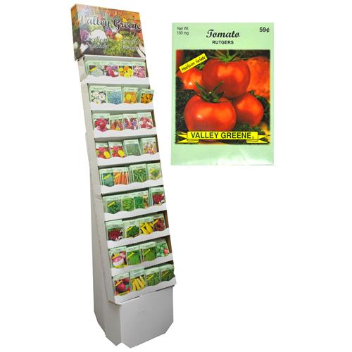 Wholesale Valley Greene 2011 All Vegetable Seed Packets In a Floor Display Prepriced $.59