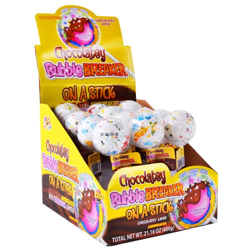 Wholesale Chocolately Bubble Breaker on a Stick