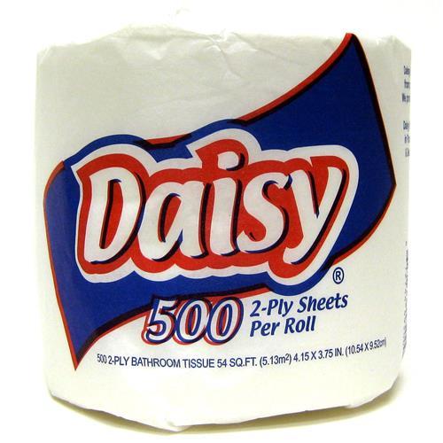 Wholesale Daisy Single Roll Bath Tissue - 2 ply 500 sheets