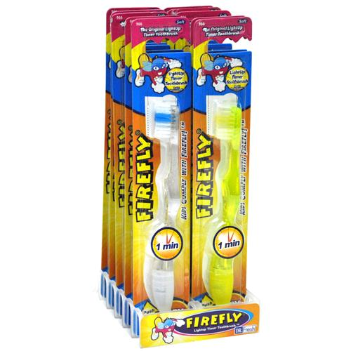 Wholesale Kids Firefly Soft Toothbrush with 1 Minute Light Up Timer