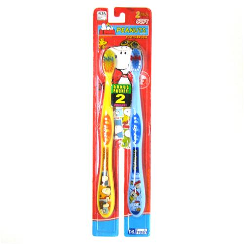 Wholesale Peanuts Toothbrushes Soft Twin Pack