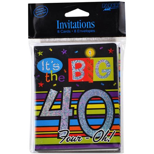 "Wholesale Birthday Invitations ""It's the Big 40"""