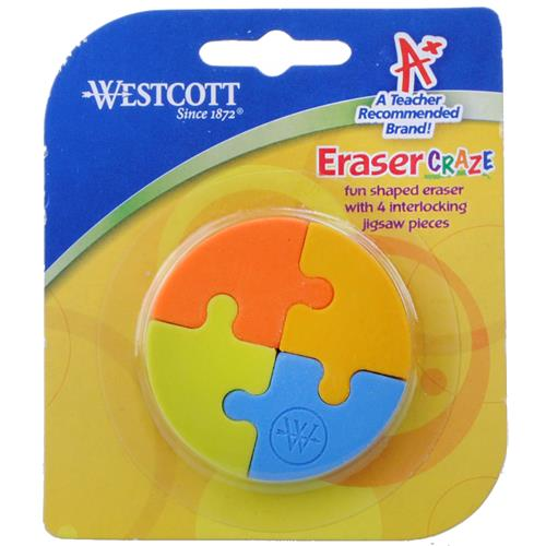 Wholesale Westcott Jigsaw Eraser Pieces