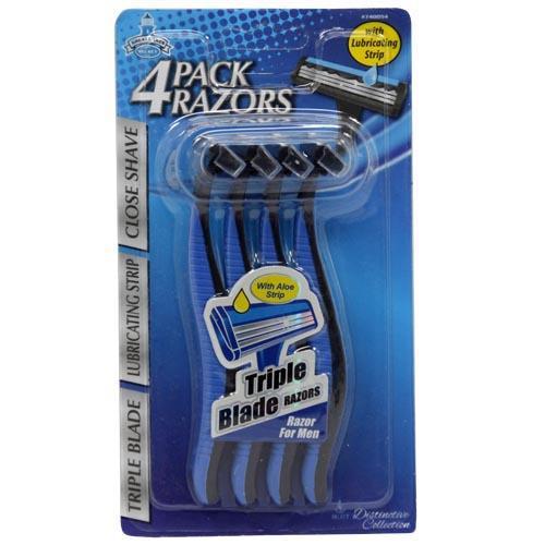 Wholesale 4pc MENS TRI-BLADE RAZORS
