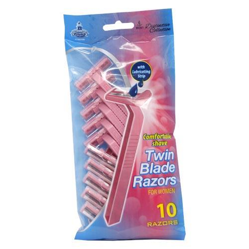 Wholesale          Wholesale 10pc WOMENS TWIN BLADE RAZORS    10pc WOMENS TWIN