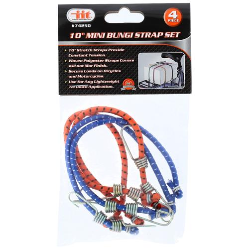 "Wholesale 4PC 10"""" Mini Bungee Strap Set"