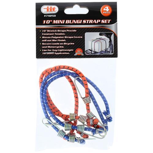 "Wholesale 4PC 10"" Mini Bungee Strap Set"