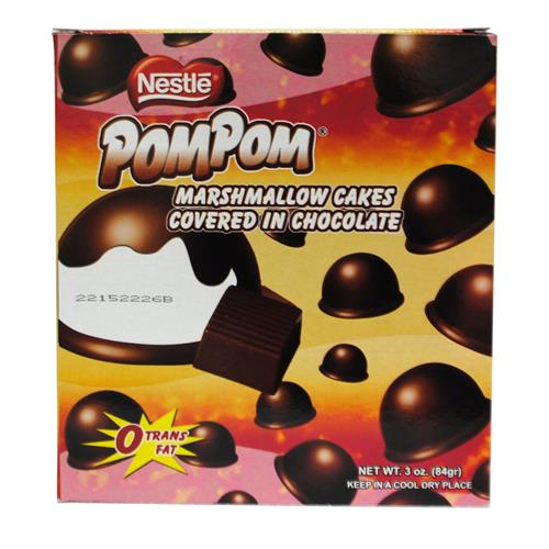 Wholesale Nestle Pom Pom Chocolate Marshmallow Cakes (Cookie