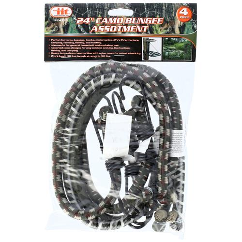 "Wholesale 4PC 24"""" Camo Bungee Assortment"