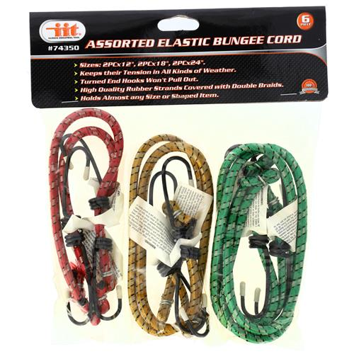"""Wholesale 6pc BUNGEE STRAPS, 12, 18 AND 24"""""""